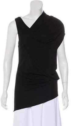 Helmut Lang Draped Asymmetrical Dress