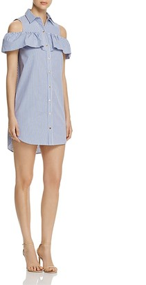 MICHAEL Michael Kors Ruffle Sleeve Shirt Dress - 100% Exclusive $165 thestylecure.com