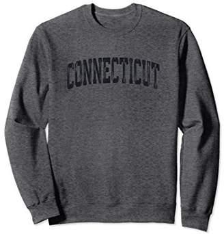 Vintage Connecticut Crewneck Sweatshirt College Style Sports
