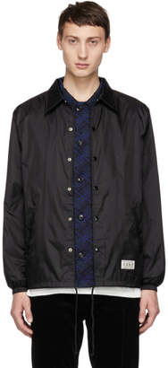 Wacko Maria Black Daido Moriyama Edition Coaches Jacket