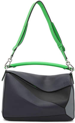 Loewe Blue and Green Puzzle Bag