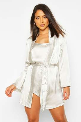 boohoo Satin Robe