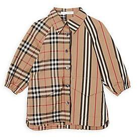 Burberry Baby Girl's Mini Teigan Mix Vintage Check & Tartan Shirt Dress