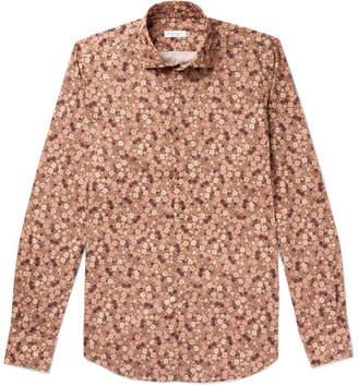Incotex Slim-Fit Floral-Print Cotton Shirt