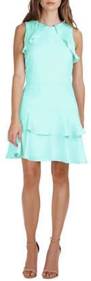Adelyn Rae Lavinia Woven Ruffle Dress