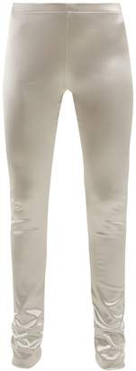 Junya Watanabe Metallic stretch-satin leggings