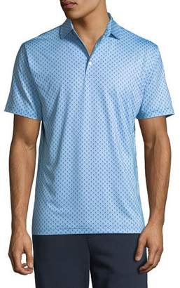 Peter Millar Men's Taxes Skull-Print Jersey Polo Shirt