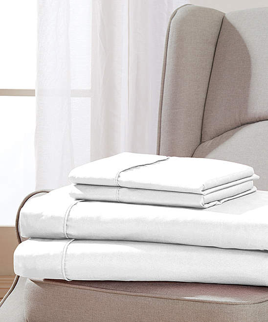White Golden Nights Sheet Set