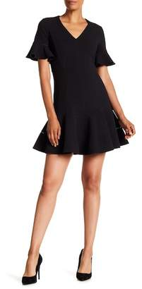 Rebecca Taylor Short Sleeve Structured Texture Dress