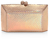 Nancy Gonzalez Women's Gramercy Snakeskin Box Clutch