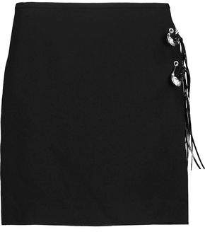 Versace Embellished Crepe Mini Skirt