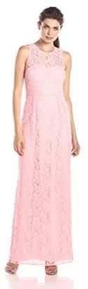 Donna Morgan Women's Harper Long Lace Illusion Gown
