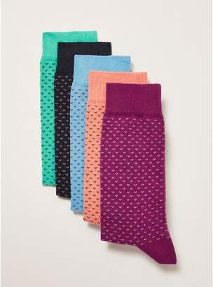 Topman Mens Multi Bright Birdseye Socks 5 Pack