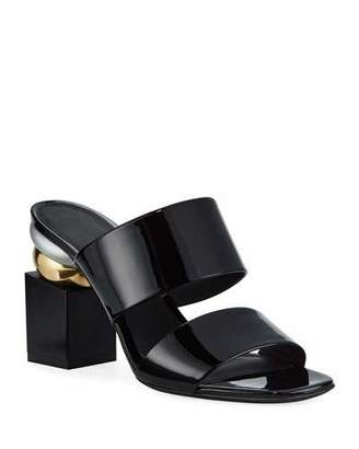 Salvatore Ferragamo Lotten Heel-Detail Sandals