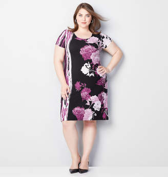 Avenue Floral Embossed Sheath Dress