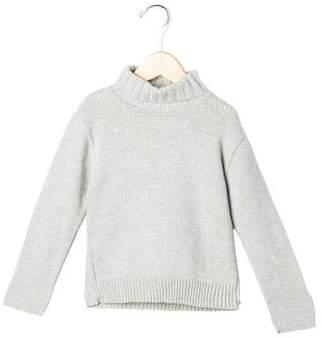 Tartine et Chocolat Girls' Rib Knit Turtleneck Sweater