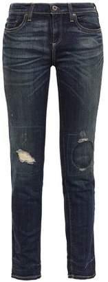 Simon Miller Bryce Distressed Mid-rise Slim-leg Jeans