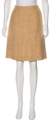 Chanel Linen Knee-Length Skirt Beige Linen Knee-Length Skirt