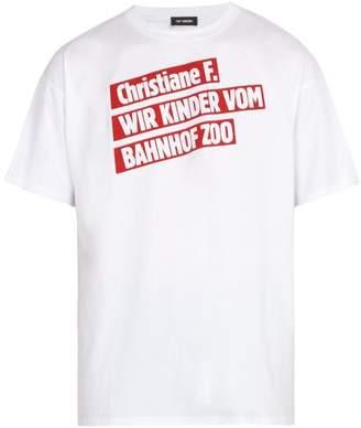 Raf Simons Christiane F. Film Title Print T Shirt - Mens - White