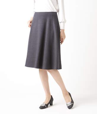 NEWYORKER women's 【ファイナルセール】ウールストレッチカルゼ 知的フレアスカート
