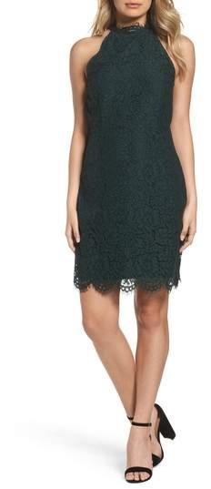 'Cara' High Neck Lace Dress