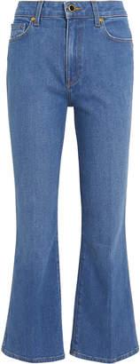 KHAITE Benny Cropped Flare Jeans