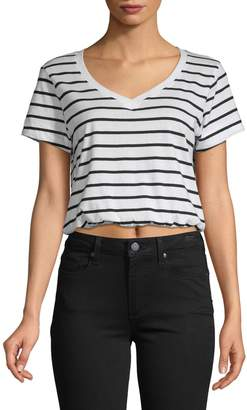 Bassike Striped Cotton Cropped Top
