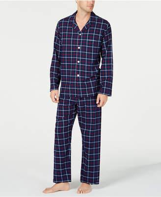 Club Room Men Navy Plaid Flannel Pajamas