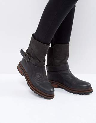 H By Hudson Flat Leather Boots