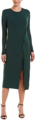 BCBGMAXAZRIA Knotted Waist Maxi Dress