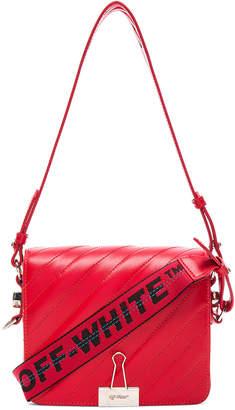Off-White Diagonal Padded Flap Bag
