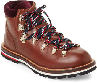 Moncler Leather Lace-Up Boots