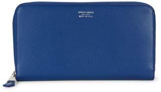 Giorgio Armani Logo Zip-Around Wallet