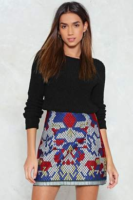 Nasty Gal You Look a Picture Tapestry Skirt