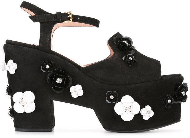 MoschinoBoutique Moschino embellished platform sandals