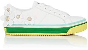 Marc Jacobs Women's Flower-Embellished Leather Sneakers-White