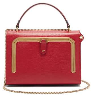 Anya Hindmarch Postbox Small Grained Leather Cross Body Bag - Womens - Red