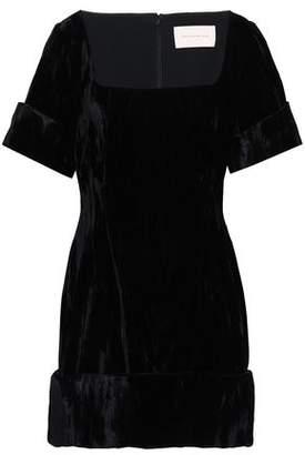 Christopher Kane Crushed-velvet Mini Dress
