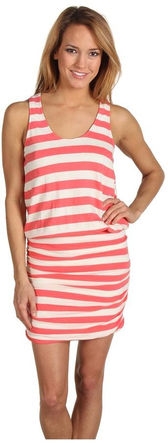 Soft Joie Bond Striped Tank Dress (Sugar Coral/Porcelain) - Apparel