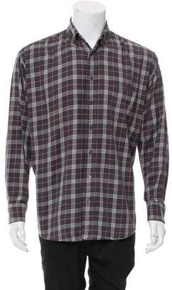 Burberry Check Print Button-Up Shirt