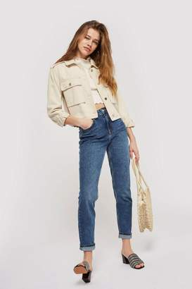 Topshop TALL Mid Blue Mom Jeans