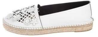 Christian Dior Leather Floral Espadrilles