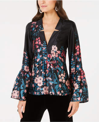Nanette Lepore Silk Floral-Print Top, Created for Macy's