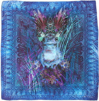 Etro Psychedelic Frog Silk Pocket Square