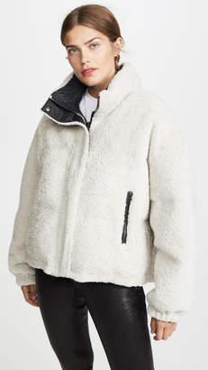 Yves Salomon Army By Doudune Lamb Reversible Puffer Jacket