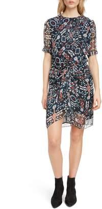 Etoile Isabel Marant Barden Print Silk Dress