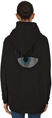 Chiara Ferragni Embellished Eye Cotton Sweatshirt Hoodie