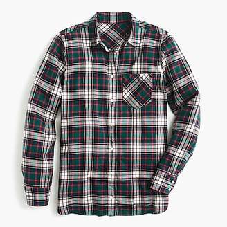 J.Crew Classic-fit boy shirt in evergreen plaid