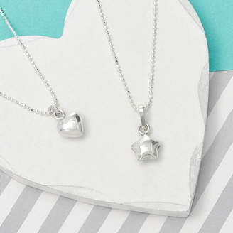Tales From The Earth Girl's Sterling Silver Star Or Heart Necklace