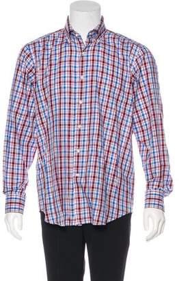 Peter Millar Plaid Woven Shirt